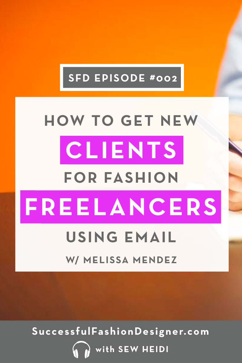 How to get more freelance clients using email for fashion designers